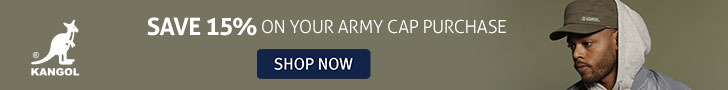 Limited Time - 15% off Army Caps!