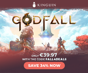 Kinguin - Godfall is OUT! Save -8% with code ❤️ – 300×250