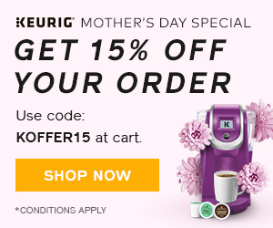 Mother's Day Special! Get 15% off your order at Keurig.ca with code: KOFFER15 at checkout! (ends 5/1