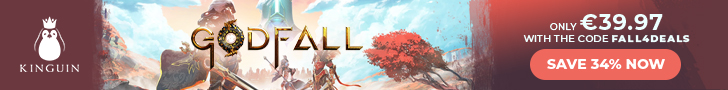 KINGUIN - Godfall is OUT! Save -8% with code ❤️ – 728×90