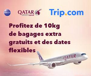 Profitez de 10kg de bagages extra gratuits et des dates flexibles