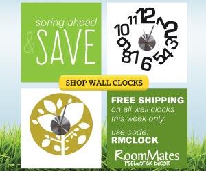 RoomMates Daylight Savings Sale