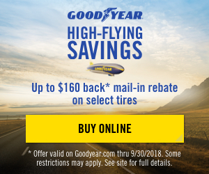 Goodyear Tires Deals & Rebates 2018