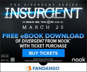 FREE DOWNLOAD of Divergent WYB Ticket to Insurgent **Thru 3/23 Hours Only**