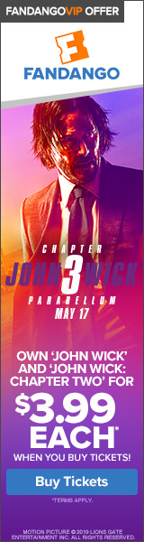 160x600 Fandango VIP+ Offer: John Wick
