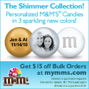Personalized M&M'S Wedding Favors