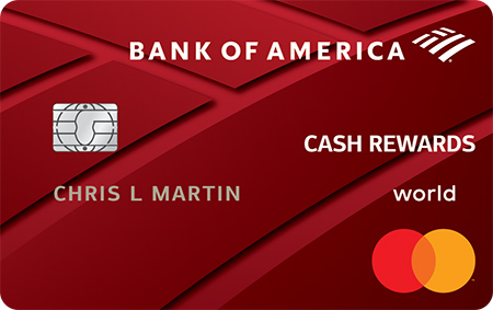 Carta di credito Bank of America® Cash Rewards - Offerta di bonus in denaro di $ 200