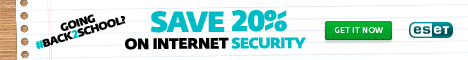 468x60 ESET for Windows Save 25%