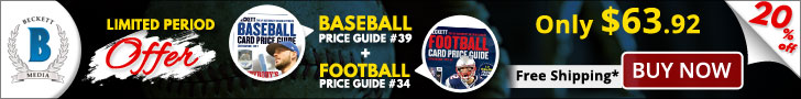 Save 20% on your favorite Beckett price guides combos.