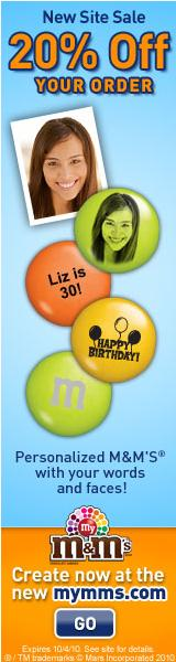 Free Bonus Bag - Personalized MY M&M'S� Candies.