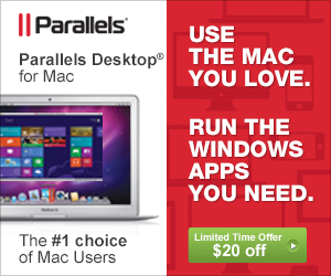Limited time offer $20 off Parallels Desktop 8 for Mac