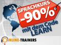 -90% : Ihre Online Sprachkurse Blau