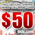 Free Ground Shipping Orders Over $50 at lids.com