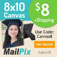 8x10 Photo Canvas for ONLY $8.