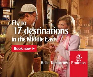 Fly to Middle East with Emirates