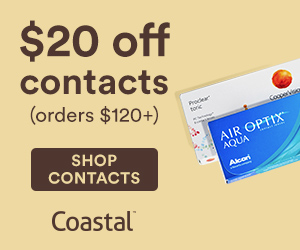 Save $20 off Contact Lens orders of $120+ at Coastal with code: FRESH20