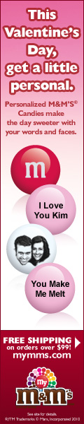 romantic valentines day gift idea from M&M's