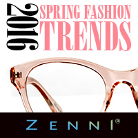 Redefine & accessorize with 2016 Spring Fashion Trends at ZenniOptical.com! Shop 2016 eyewear!