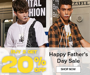 Zaful 2020 Father's Day Sale: buy 2 get 20% off