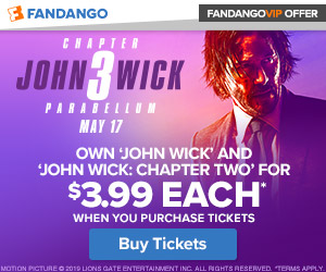 300x250 Fandango VIP+ Offer: John Wick