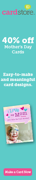 40% off Mother's Day Cards at Cardstore! Use Code: WTJ40, Valid through Sunday 4/20/14. Shop Now!