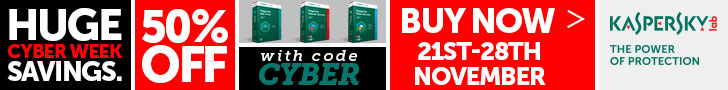 50% Off Kaspersky Lab Home Security Products With Code CYBER 21st-28th November