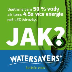 Watersavers.eu - šetřiče vody: ušetřete 50% vody!
