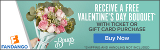 Buy Tickets and Receive a FREE Valentine's Day Bouquet from The Bouqs