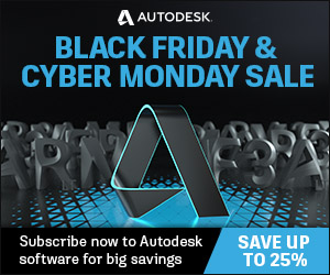 BLACK FRIDAY/CYBER DAYS: SAVE 25% discount coupon code on Autodesk software