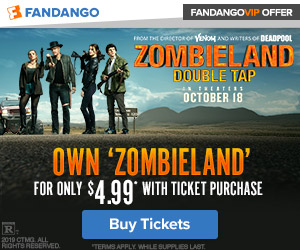 300x250 Own 'Zombieland' for only $4.99 with ticket purchase