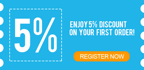 Enjoy 5% discount on your first order!