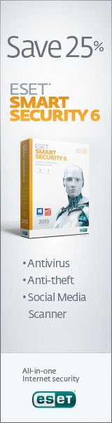 160x600 ESET Smart Security - Save 25%
