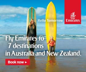 Fly to Australia with Emirates Airlines