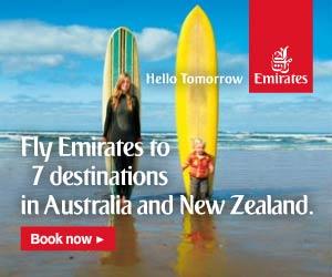 Emirates flights to New Zealand