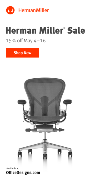 Save Big During the Herman Miller Sale -15% OFF, Free Shipping & Free Returns! (Valid 5/4 - 5/16)