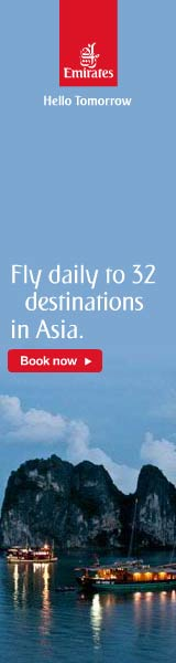 Fly to Asia with Emirates Airlines