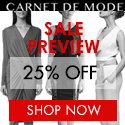 SALE PREVIEW 25% OFF