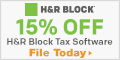 Online - Save 15% on H&R Block At home Premium edi
