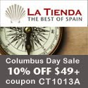 Columbus Day Sale - 10% Off Orders of $49+ at LaTienda.com with Coupon CT1013A