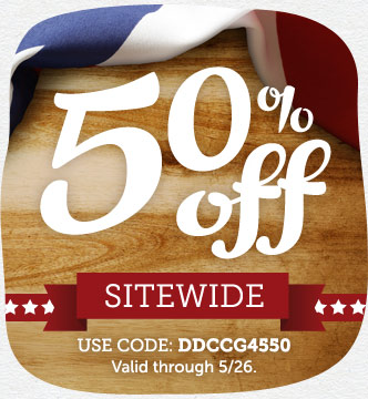 Memorial Day Event! Save 50% off Sitewide at Cardstore! Use Code: DDCCG4550, Valid through 5/26/14.