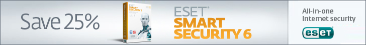 728x90 ESET Smart Security - Save 25%