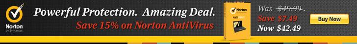 15% off Norton Anti-Virus 728x90 - Direct to Cart