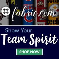 Shop fabric.com to show your team spirit.