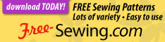 Free sewing patterns - download today!