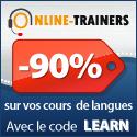 Cours de langues en ligne bleu