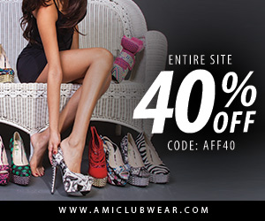 Save 40% off site wide at AMIclubwear.com! Use code AFF40 at checkout!