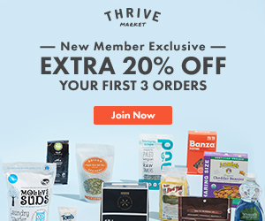 Thrive Market sells your favorite organic and non-GMO brands for up to 50% off retail.