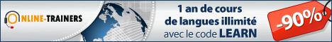 -90% : Cours de langues en ligne bleu