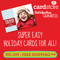 70% off Holiday Cards & Invites at Cardstore, Use Coupon Code: CCN2170, Valid thru 11/16/12 at 5am
