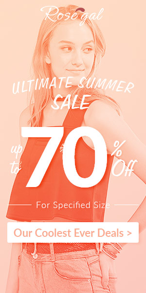 Rosegal ULTIMATE Summer Sale: Up to 70% OFF + Free Shipping Worldwide